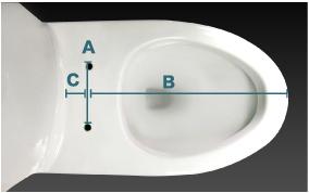 免治馬桶孔距測量